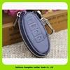 15047D Zipper around closure leather key case for INFINITI