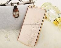 Female Loved Transparent Bling Luxury Reshinestone PC Ultra-thin Hard Case CO-PC-3010