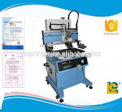 LC-700P Easy operation Semi- automatic pneumatic flatbed screen printer with T-slot work table supplies for keyboard&ruler