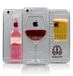 [Wholesale]Liquid beer/wine phone case for iPhone