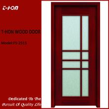 moulded glass wooden toilet\washroom door design low price