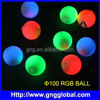 IC/DMX drive IP65 waterproof led ball light outdoor ornament