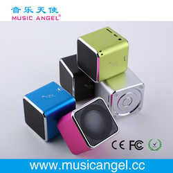 Music Angel JH-MD06 TF card cube bass peaker mini portable hamburger speakers mobile phone accessory