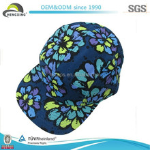 We Can Make Plastic Back 5 Panel Floral Custom Made Flat Bill Hats