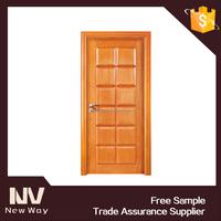 new design China solid wood vent exterior door