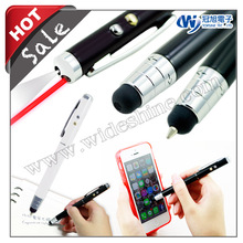 iT05s 2015 new product , Telescopic stylus pen for smartphone and ball pen with led flashlight and laser pointer
