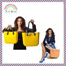 2014 new Fashion custom logo Silicone Handbags/Silicone Rubber ladies hand bags