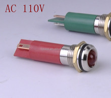 AC 110V Indicator Light Led pilot IP67 CE red green yellow blue white