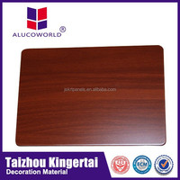 modern Popular Alucoworld high quality brushed/PE/PVDF coated exterior wooden aluminium facade wall cladding