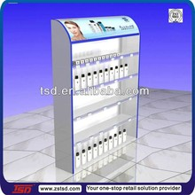 TSD-W1158 Novel design supermarket shampoo wooden retail floor display