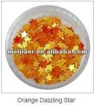 nail art christmas decorations, nail art dazzling orange star, personal care products