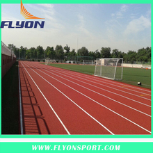 Artificial Sport Flooring Surface/IAAF Sandwich System Tartan Track/Waterproof Synthetic rubber running track Material