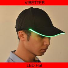 neon glowing lights black color led cap