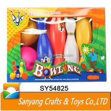 Hot sale colorful plastic kids indoor bowling games