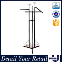 metal fixtures retail hanging hook display stands racks for bags