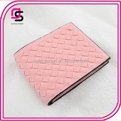 Wholesales Ladies Newest Fashion Simple Quilted Cheap Leather Wallet