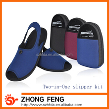 Business Travel Slipper with a Zipper Pouch,High-Grade slipper for travel