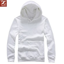 custom made men's thick plain white hoodie