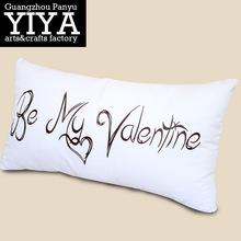 factory custom home made decorative sofa cushion long 100% cotton cushion