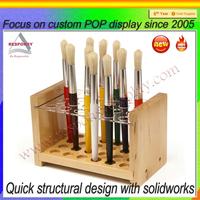 Wooden material mac makeup holder brushes make up display