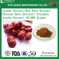ISO & Kosher Certified Fructus Jujubae Date fruit powder Ziziphus Jujube Extract 1%-98% Jujube polysaccharide P.E