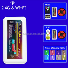 4 zone 2.4G RF smart color changed full touch led controller wifi solar controller m-7