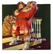 High Quality Figure Oil Painting With Santa Claus Design