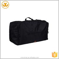 Waterproof black cool style adjustable shoulder strap black oxford rolling duffle bag