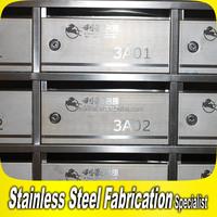 Custom Made Stainless Steel Mailbox Slot