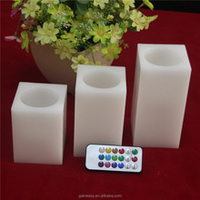 LED Candle Flameless Light, Square LED Candle Light Angels Candle for Fireworks Cake