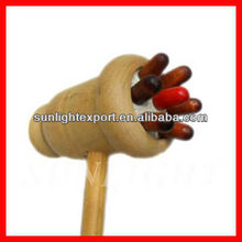 funny wood massager with soft rubber massager