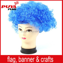good quality eco-friendly exlposion short afro curl football fan wig