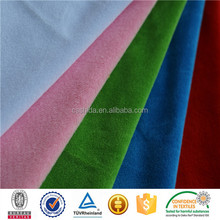 for shoes solid color plain style cheap ef ultra super soft velboa fleece fabric From China