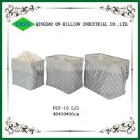 Hot sell folding canvas laundry basket
