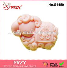 animal de ovelha artesanal de sabão molde de silicone