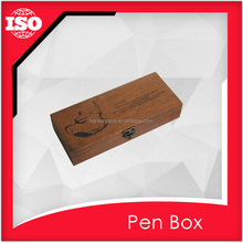 With carving pettern Wooden pencil case