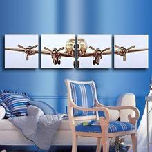 Shippping livre lona retrato da parede pintura avião da arte da lona decoração de Morden enormes Pictures