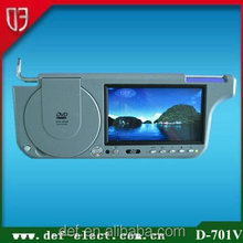 "vision car dvd player audio 7"" Sunvisor DVD Player with Sunplus Solution/Sanyo Lens"