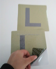 new products Adhesive Sticker with Silicon Paper 2pcs L plate for car sticker/outside of car/wondow for small order