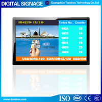 "42"" Interactive Wall Mount Advertising LCD Queuing Digital Singange Display"