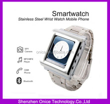 """Stainless Steel Wrist Watch Smart GSM Mobile Phone AK812A with SOS function hand watch mobile phone price 1.44"""" Touch Screen"""