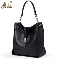 Free Shipping by DHL 2015 popular big branded full grain genuine leather hobo shoulder bag woman