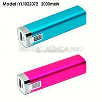 portable universal aluminum power bank battery 18650 2600mah 2200mah 2000mah 1800mah Alloy metal manual for power bank charger