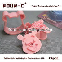 Animal shaped cookie cutter set,plastic biscuit cutter set
