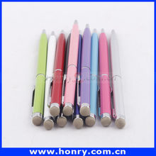 New style metal slim cross custom logo stylus touch pen for iphone 5
