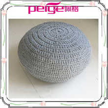 New design colorful high quality knitted ottoman cover wholesale 2014