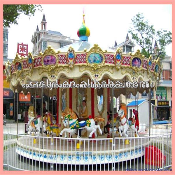 2013 venta caliente de atracciones Parque Infantil carrusel rotatorio, carrusel para la venta