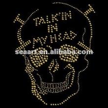 2012 golden design iron on skull transfer