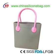 new Fashion custom logo Silicone Handbags/Silicone Rubber ladies hand bag