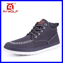 new design blank high top men canvas sneaker shoes